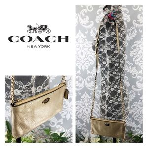 Gorgeous! Authentic Coach Gold Crossbody Bag